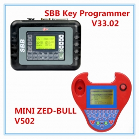 Professional MINI Zed Bull + Silca SBB Key Programmer V33.02 Multi-Language