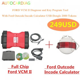 Ford VCM 2 ids multi-language vcm ii for obd2 tool With Ford Outcode/Incode Calculator
