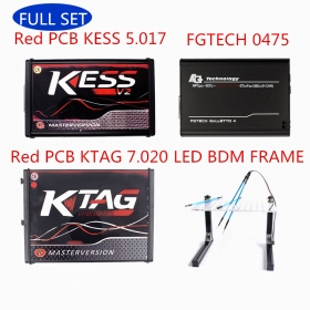 Ship From Europe Red PCB KESS V2 5.017 + KTAG 7.020 + Fgtech V0475 + LED BME Frame