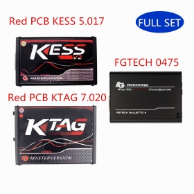Ship From Europe Red PCB KESS 5.017 + KTAG 7.020 + FGTech V0475