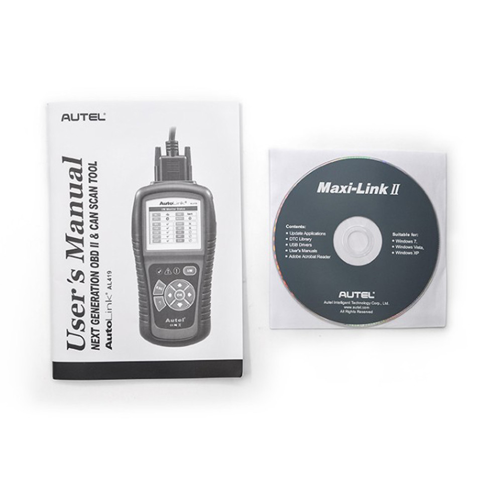 Autel AutoLink AL419 can diagnose the ALL 1996 and newer vehicles (OBD II & CAN) for Retrieves generic