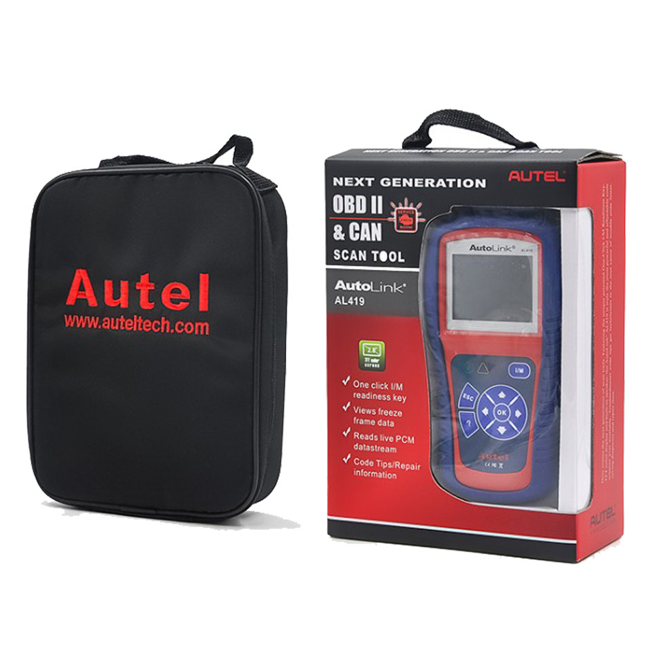 Autel AL419 Autolink Obdii/can Scan Tool With Code Tips