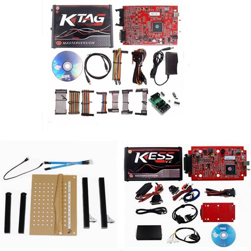 Red PCB KESS V2 5.017 + KTAG 7.020 + LED BDM Frame
