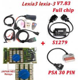 Lexia3 PP2000 Diagbox V7.83 with 921815 Full Chip + PSA 30 Pin +S1279 Cable