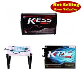 Red KESS V2 5.017 EU + KTAG 7.020 + LED BDM Frame