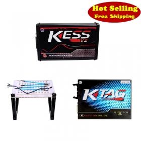 Red KESS V2 5.017 EU + KTAG 7.020 + LED BDM Frame