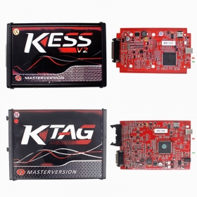 KESS V2 5.017 With Red PCB EURO Version + KTAG V7.020 Master ECU Chip Tuning Tool