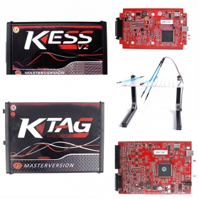 Ship From Europe Red KESS 5.017 EUR Version +KTAG 7.020 +Led Bdm Frame Support Online No Tokens Limited