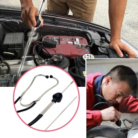 Mechanics Cylinder Stethoscope Car Engine Block Diagnostic Automotive Hearing Tools Anti-shocked Durable Chromed-steel