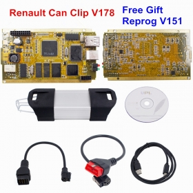 Newest V178 Renault Can Clip Full Chip Gold CYPRESS AN2131QC Can Clip OBD2 Diagnostic-tool Interface OBDII Code Reader Gift Reprog V151